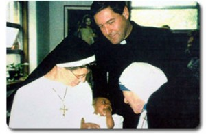 Fr. Rick Frechette With Mother Teresa