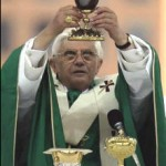 Pope Benedict XVI with Holy Grail Chalice