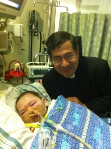 Fr. Frank Pavone and Baby Joseph in St. Louis, MO