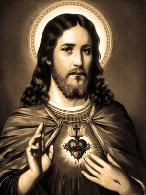 black and white sacred heart