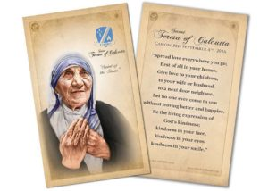 St. Mother Teresa of Calcutta Holy Card