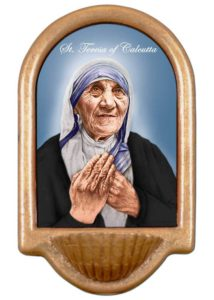 St. Mother Teresa of Calcutta Holy Water Font